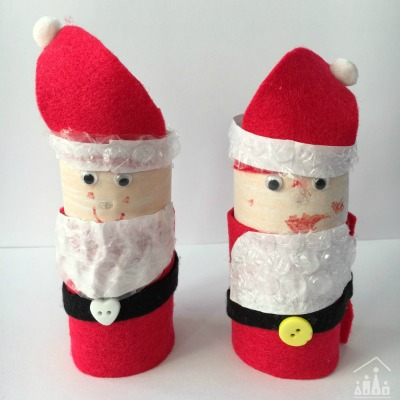 Bubble Wrap Santa Christmas Craft for Kids