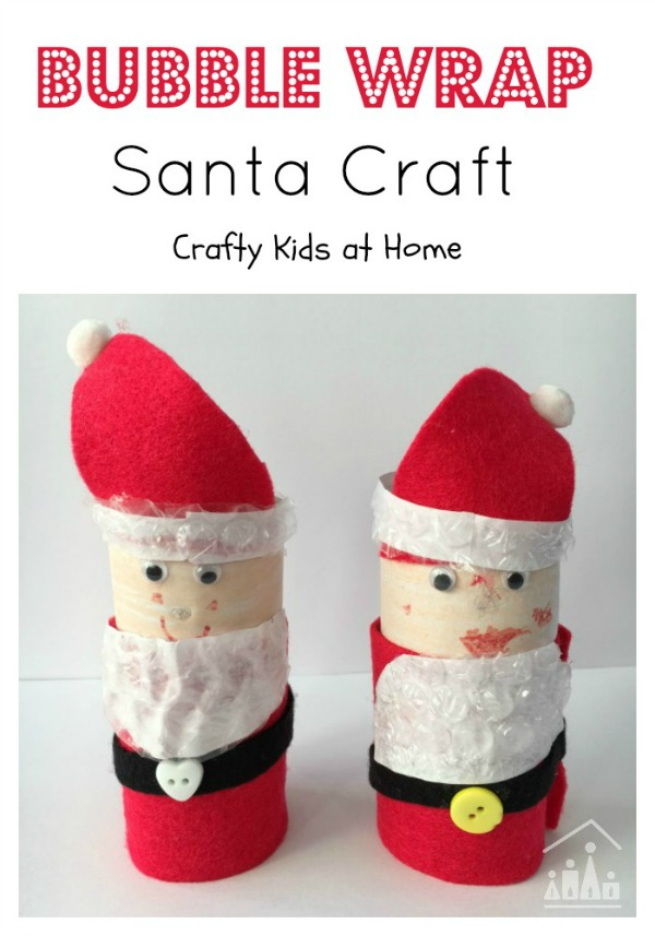 Bubble Wrap Santa Craft