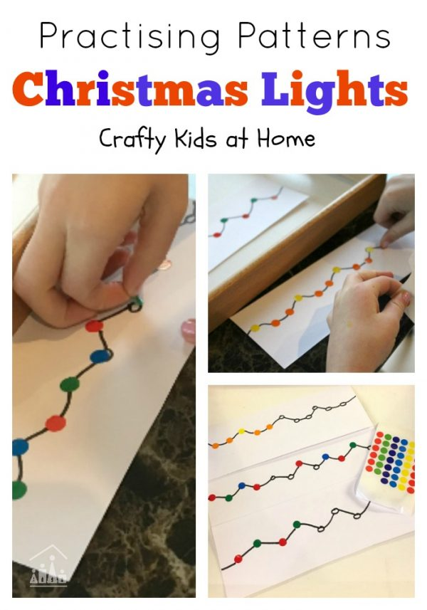 Christmas Lights Pattern Making Exercise