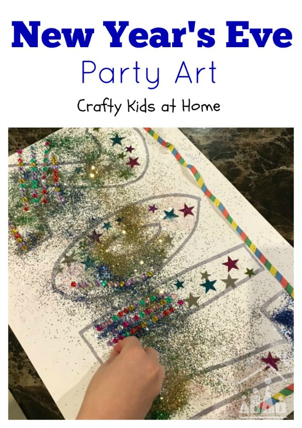 New Years Eve Art Project for Kids