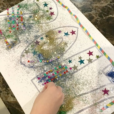 New Year's Eve Party Art Project for Kids