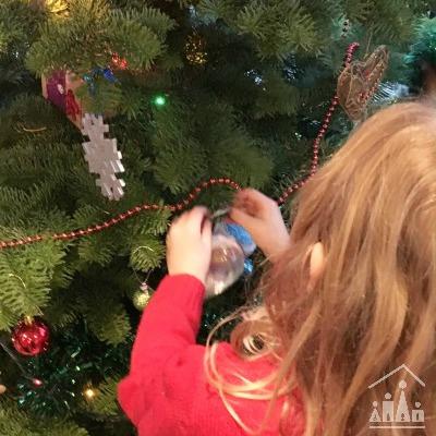 Family visit to Parkmore Christmas Tree Farm