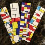 Piet Mondrian Inspired Bookmarks
