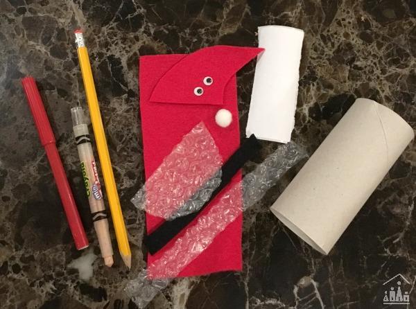 Supplies for a Santa Craft