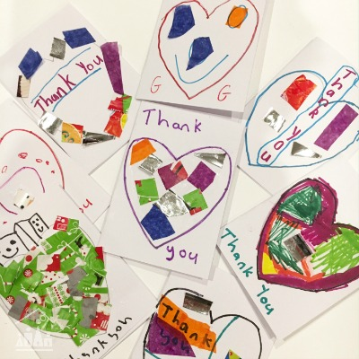 Kid-made Thank You Cards
