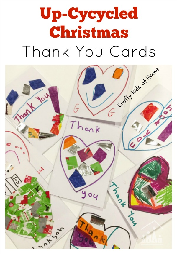 UpCycled Christmas Thank You Cards  Crafty Kids At Home