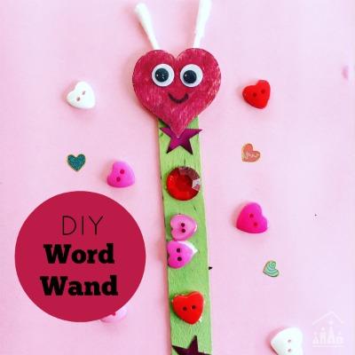 DIY Love Bug Word Wand Literacy Aid
