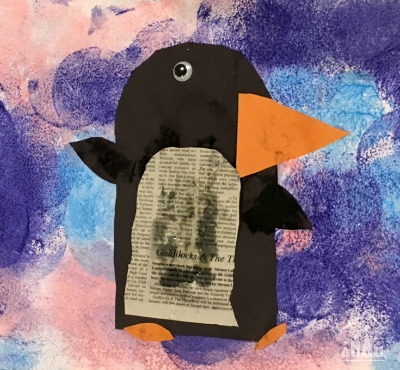 Penguin Winter Art Project for Kids