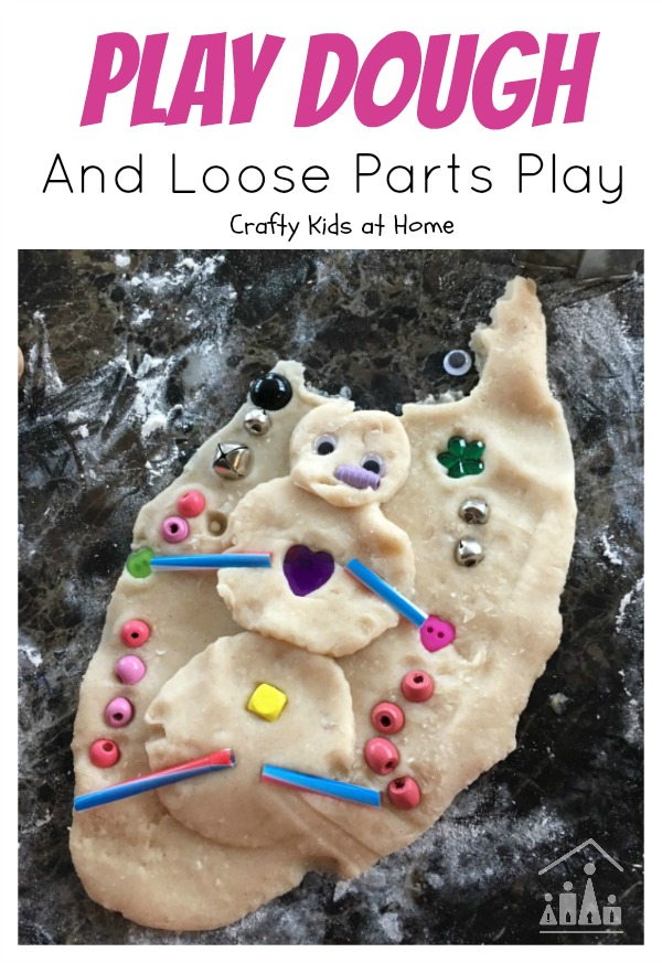 Play dough and loose parts play