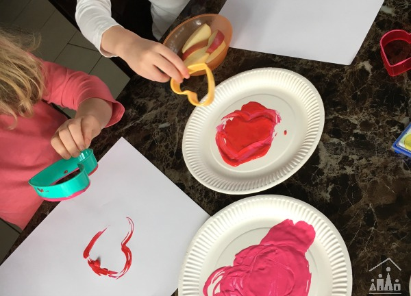 Kids Painted Love Hearts Valentines Art Project