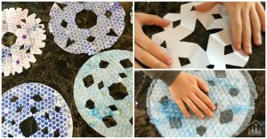 Bubble Wrap Snowflake Art Project for Kids