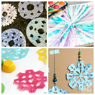11 Paper Snowflake Crafts for Kids