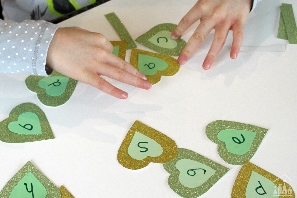 Shamrock CVC Word Game Building Game for Kindergarten