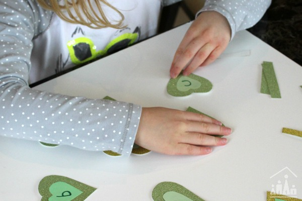 DIY Shamrock Word Building Game