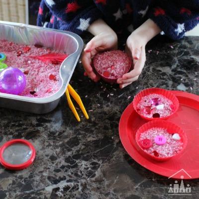 Valentine Cupcakes Sensory Play