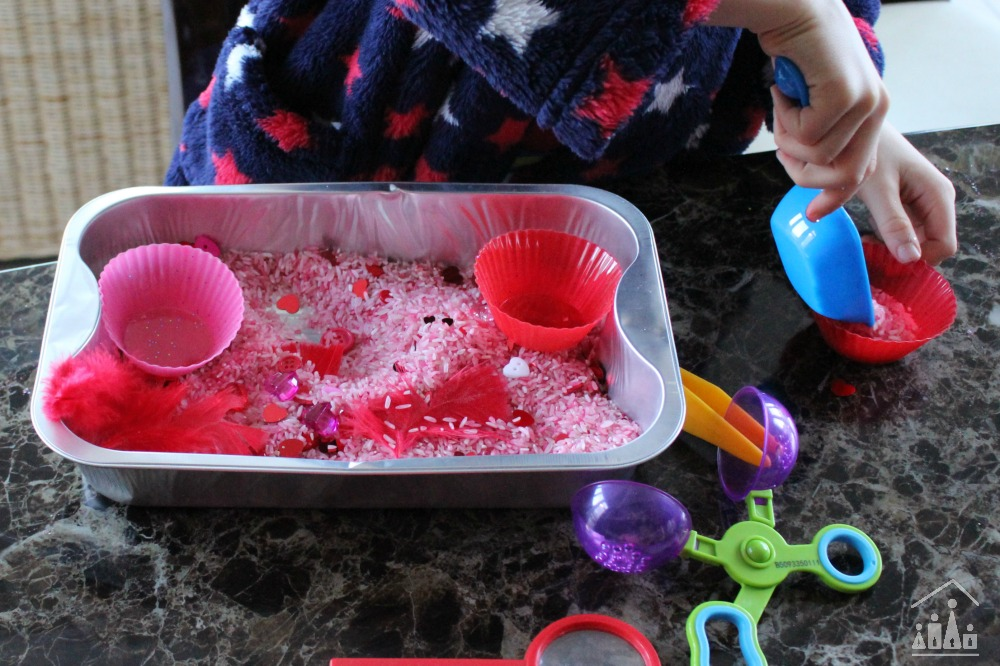 Valentines Cupcake Sensory Play