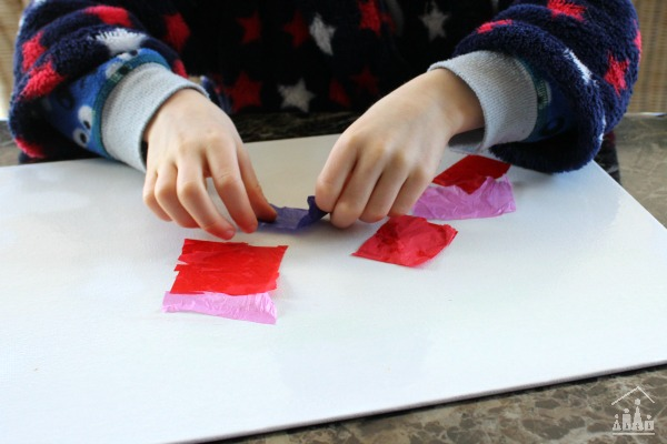 Bleeding tissue paper art for kids