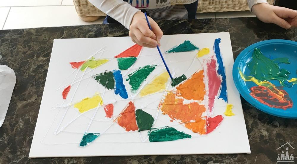 Hot Glue Gun Resist Art for Kids