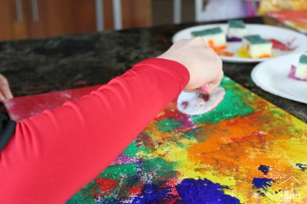 Child led process art activity