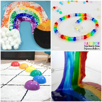 Kids Rainbow Activities for Spring