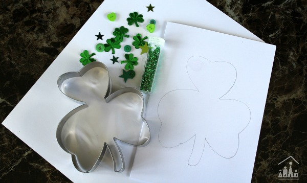 Supplies to make Shamrock DIY Card