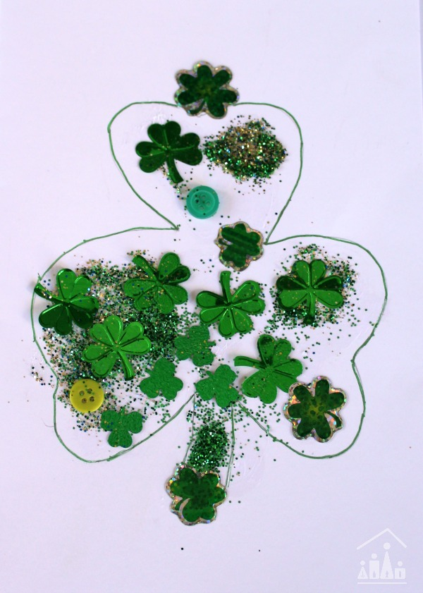 Shamrock Collage for a DIY St Patricks Day Card