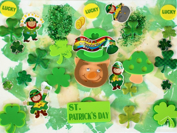 St Patrick's Day Collage for Kids