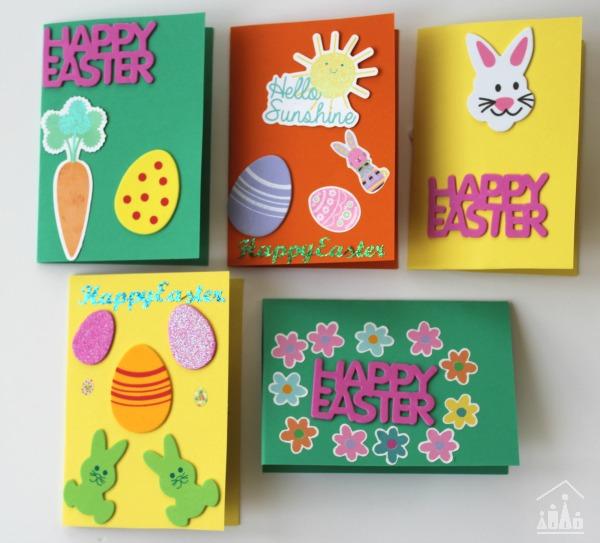 Kids DIY Sticker Easter Cards