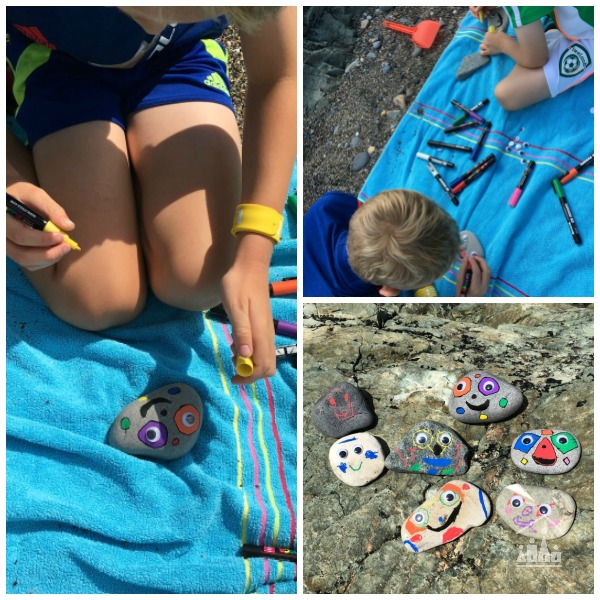 Making Pet Stones on the Beach