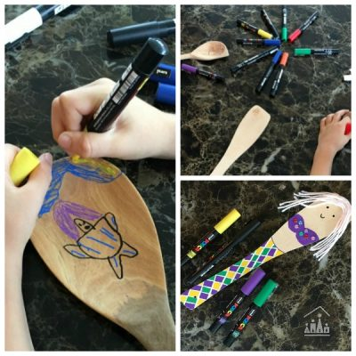 Painted Wooden Spoon Puppets